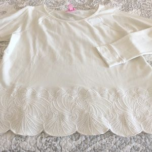 White Lilly Pulitzer popover top NWT